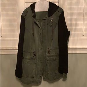 Army green and black jacket